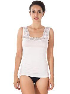 Shyle White Soft Women Camisole