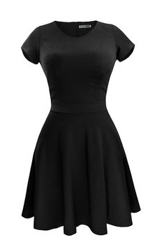 Heloise Fashion Women's A-Line Short Sleeve Pleated Little Cocktail Party Dress