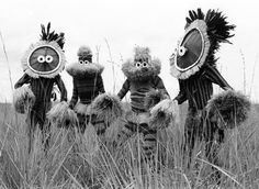 Africa | Minganji masqueraders, near Gungu, D.R. Congo. 1970 | ©Eliot Elisofon