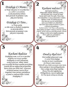Polish Wedding, Wedding Gifts For Parents, Dream Wedding, Wedding Day, Top Wedding Trends, Parent Gifts, Autumn Wedding, Decoupage, Poems