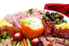 pepper bowl and finger-food platter