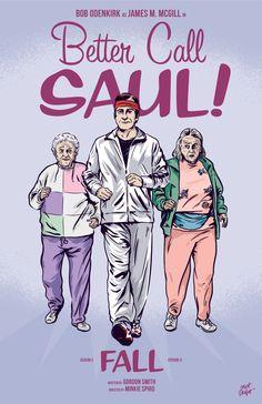 Better Call Saul season 3, episode 9, Fall, poster by Matt Talbot