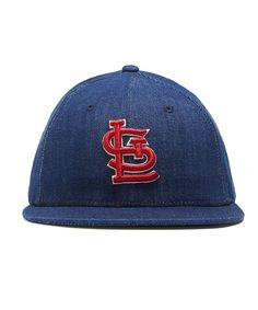 4352167596df4 TODD SNYDER + NEW ERA MLB ST LOUIS CARDINALS CAP IN CONE DENIM Vintage  Denim