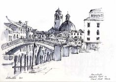 Watercolour with Allan Kirk at Tarnincolour: Sketches from Venice Sketch Inspiration, Urban Sketching, Art Sketches, Venice, Taj Mahal, Paintings, Watercolor, Fine Art, Architecture