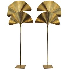 Pair of Tomasso Barbi Brass Floor Lamps For Sale Brass Floor Lamp, Modern Floor Lamps, Brass Lamp, Steampunk Furniture, Colani, Lamps For Sale, Room Lamp, Home Lighting, Modern Lighting