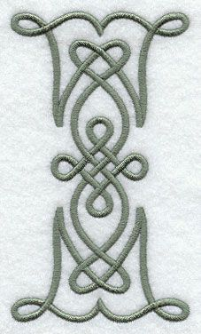 Celtic Knotwork Letter I - 5 Inch