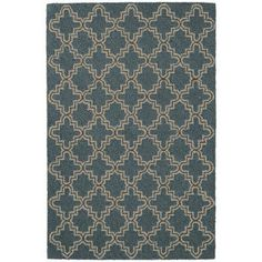Dash and Albert Rugs Plain Tin Hooked Blue/Brown Area Rug Rug Size: 9' x 12'