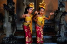 Two young Balinese dancers