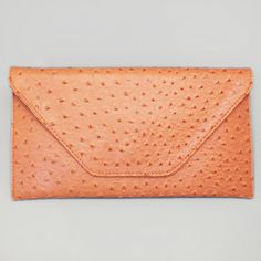 Orange Color Pattern Clutch / 166210