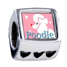 Poodle Photo Heart European Charms  Fit pandora,trollbeads,chamilia,biagi and any customized bracelet/necklaces. #Jewelry #Fashion #Silver# handcraft #DIY #Accessory