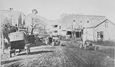 Main Street in 1914 - now Canton Street. Photo from the Georgia Archives. Roswell GA