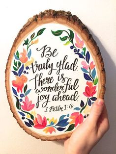 Inspirational Bible Verse Wood Slice 1 Peter Inspirational Bible Verse Wood Slice 1 by HaleyMillerPaintings Bible Quotes, Bible Verses, Scriptures, 1 Peter, Wood Slices, God Is Good, Word Of God, Beautiful Words, Cool Words
