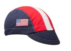 Made in USA Flag Cotton Cycling Cap