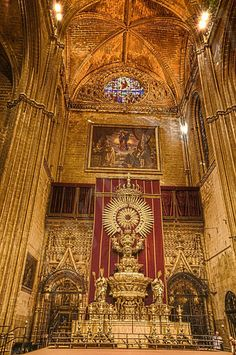 The interior of Cathedral Seville ...
