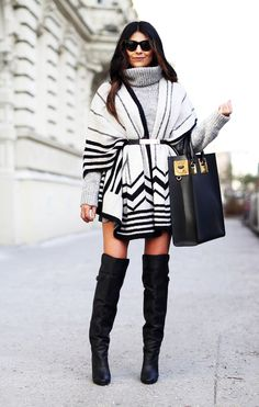 Poncho, Sophie Hulme Tote, H&M Paris Collection Boots