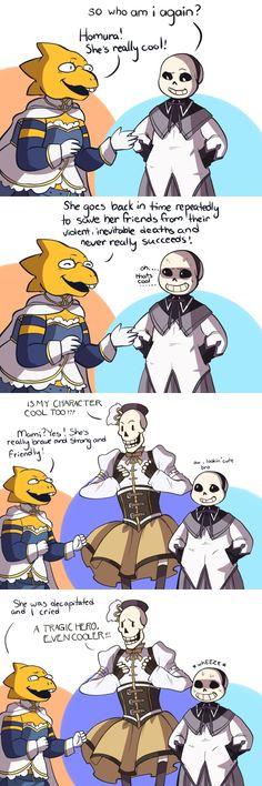 Alphys, Sans, and Papyrus - comic - Madoka Magica parody