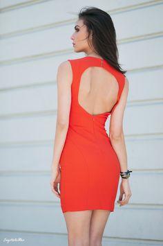 Open Back & sleeveless Red Dress from sayhellomax.com