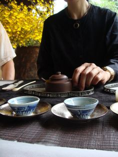 Traditional chinese gong-fu tea ceremony.