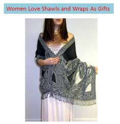 It is true that women love shawls especially #evening #shawls as #gifts. This accessory is so versatile and useful. They give warmth, coverage, a sleek look and add so much style to a simple dress. A #shawl #wrap is a small investment with big value. So stock up on unique shawls of all kinds, #silk shawls, #chiffon #wraps, #handcrafted unique seasonal shawls, velvet wraps and netted shawls to add designer elegance to your seasonal wear.