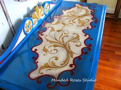 Amazing hand painted buffet/server annie by MendedRosesStudio