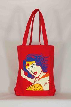 Wonder Woman Large Tote Bag Gift Bag Book Bag Toy Bag Library Bag Halloween Bag Trick or Treat Bag  Super Hero by PatricesCupboard on Etsy https://www.etsy.com/listing/250137023/wonder-woman-large-tote-bag-gift-bag