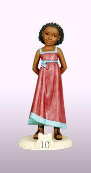 """Ebony Birthday Girl Age 10 Figurine Dimension: 6½""""H"""
