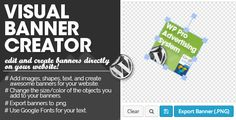 "WP PRO Visual Banner Creator . - Ready to use with the ""WP Pro Advertising"