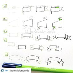 Are you following @therevisionguide ? They are teaching me new ways to decorate my #bulletjournal  Repost with @repostapp. ・・・ How to draw banners...