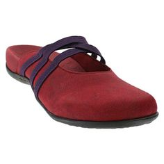 Orthaheel Orthaheel Womens Sasha Ii Mule Wineberry Size 5 -- Click image to read more details. #WomenMulesClogs