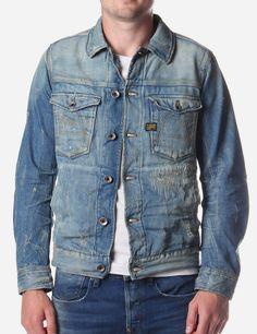 G-Star raw a crotch men's denim jacket denim. Raw Denim, Men's Denim, Denim Shirt, Denim Style, Denim Button Up, Button Up Shirts, Men's Jeans, G Star Raw, Estilo Denim