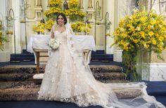 O vestido de noiva romântico de Shirlei em #HajaCoração  Foto: Estevam Avellar