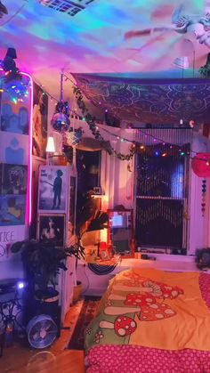 Hippie Bedroom Decor, Indie Bedroom, Indie Room Decor, Room Design Bedroom, Cute Room Decor, Room Ideas Bedroom, Bedroom Inspo, Hippie Bedrooms, Hipster Room Decor