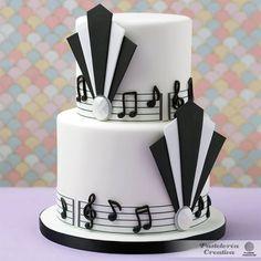 Pastel musical art déco