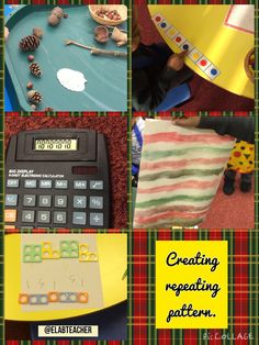 Repeating pattern- Numicon, objects, colours, numbers.