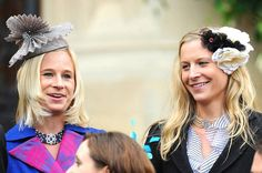 The two daughters of the Duke and Duchess of Gloucester wearing chokers loaned from their mother.