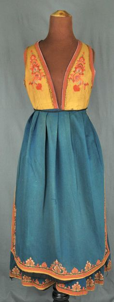 DigitaltMuseum - Bunad Folk Costume, Costumes, Costume Ideas, Vest, Textiles, Embroidery, Summer Dresses, Pretty, Norway