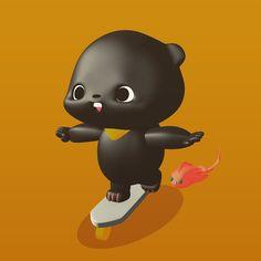 http://ift.tt/1MqQEmR  #bear #black #baby #character #line #stickers #download #cute #lovely #followup #sweet #c4d #cinema4D #characterdesign #babybear #toy #colorful #sns #chating #loveme #design #かわいらしい #キャラクター #ステッカー #クマ #おさない #라인스티커 #귀여운곰 #애기곰 #캐릭터 -  http://ift.tt/1MqQEmR by toyature