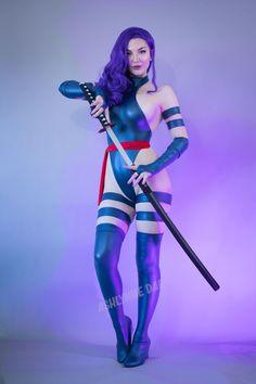 Blue Leotard, Superhero Cosplay, Psylocke, Alpha Female, Independent Women, Cosplay Girls, Pattern Fashion, Leotards, Supermodels