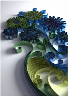 Jitesh Patel - metallic flower vase by all things paper, via Flickr