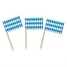 These Bavarian Flag food picks are the perfect way to serve appetizers at your Oktoberfest party. 50 Bavarian check food picks per package.