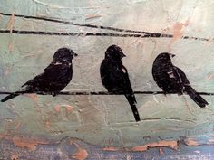 Birds on a Wireis an original acrylic by TerrellLevyPrints on Etsy, $25.00