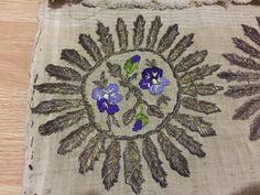 ottoman turkish gold embroidery towel