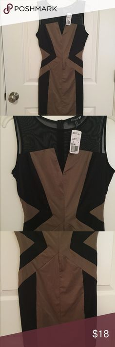 NWT Bodycon Dress -NWT - brand new/never worn!  -Tag still attached  -Bought for an event but didn't end up wearing it  -Great little cocktail dress, but could also be worn a bit more casually (think flats and a cardi!) or even to work (leggings and a blazer!)  -Listed as a size 8 but fits more like a size 6 -- suggest size Small or a petite Medium  -Neutral color is perfect for the Spring and Summer, but can be worn year round! -Fit is slimming and flattering Forever 21 Dresses Midi