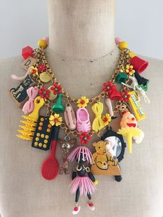 Vintage Spielzeug Halskette Halskette Anweisung von CurioJewellery