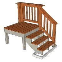 Best Redwood Pre Built Decks In 2019 Deck Stairs Deck Stair 400 x 300