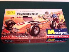 Indy 500 Roadster 1/24 Scale Plastic Model Race Car Kit by Monogram by mancavestuff on Etsy