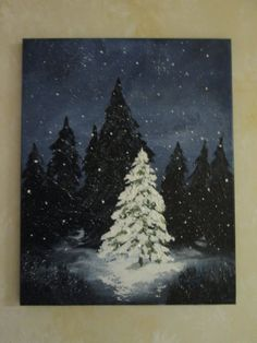 Christmas Tree Painting by Followthepaintedroad on Etsy
