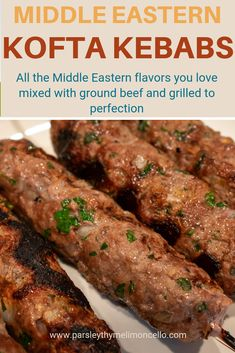 All the delicious Middle Eastern flavors you love grilled to perfection. Kabob Recipes, Halal Recipes, Greek Recipes, Grilling Recipes, Indian Food Recipes, Cooking Recipes, Vegetarian Grilling, Healthy Grilling, Barbecue Recipes