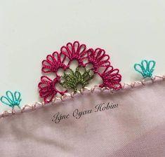 Pırpırlı çiçek oyası örneği Knit Shoes, Needle Lace, Sweater Design, Knitted Shawls, Baby Knitting Patterns, Knitting Socks, Hand Embroidery, Tatting, Diy And Crafts