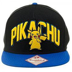 1aec341538e Pokemon Pikachu Snapback Hat One Size Fits Most- Pikachu Hat Bioworld  http